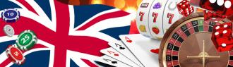 UK casino, roulette, cards and casino chips